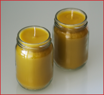 Candles in a Glass Container